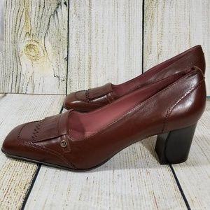 Etienne Aigner leather loafer pumps size 8M